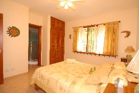Our third bedroom is generously sized, with en suite bathroom and ample closet space