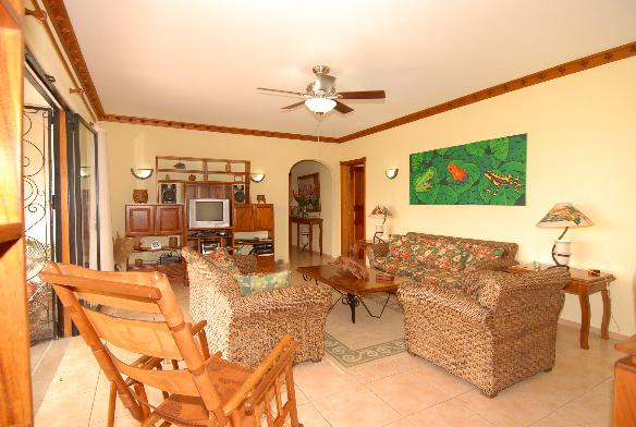 Generously sized living room includes DTV Satellite TV, DVD, Entertainment Center, and Lake View!